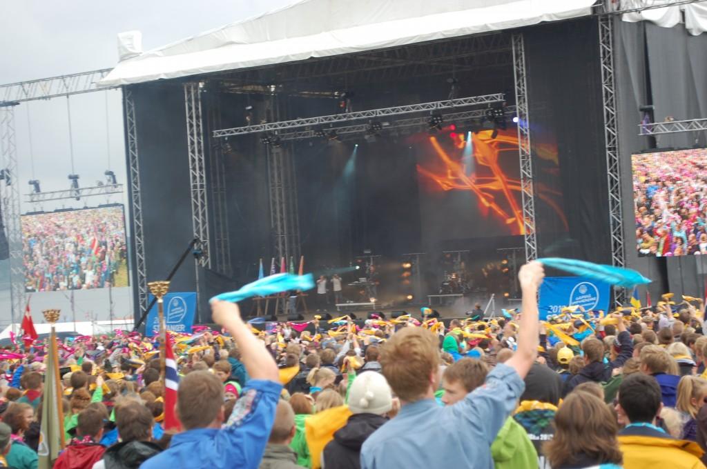 Stavanger 2013: Scoutsown som rockekonsert.