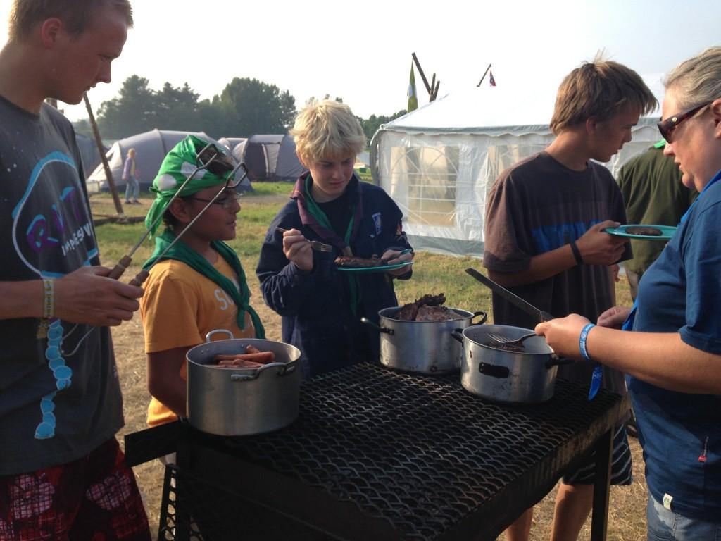 Stavanger 2013: Grillmat på fredag. Da vil vi ikke lage mer oppvask enn strengt nødvendig.Foto: Hanne Birte Hulløen