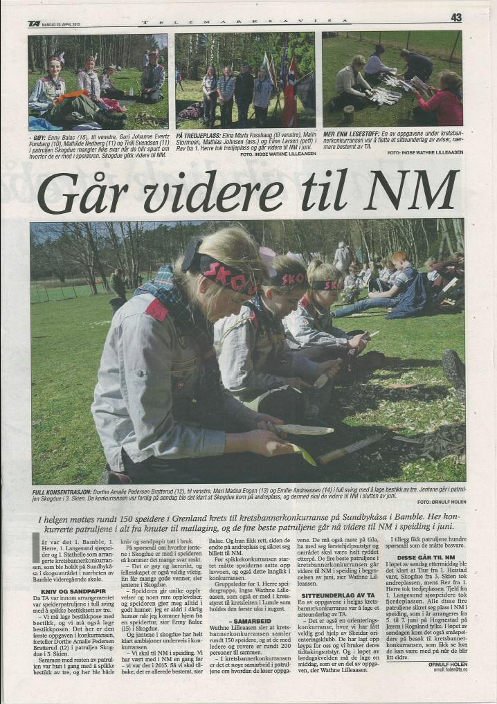 TA 2015-04-20: Skogdue til NM