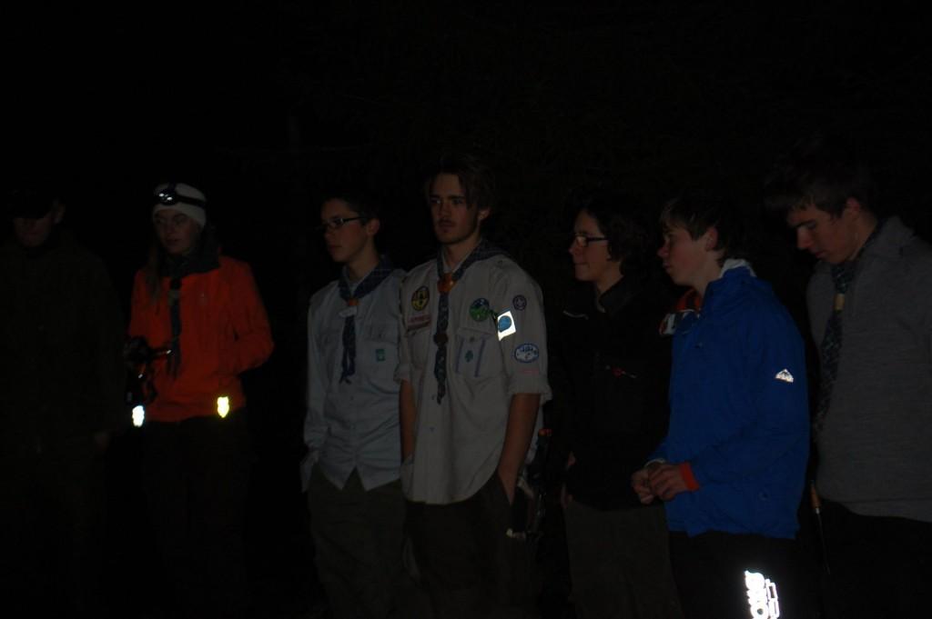 Lars og Fabian har fullført roverprøva og skal få grønne skulderklaffer. Foto: Trond Engen