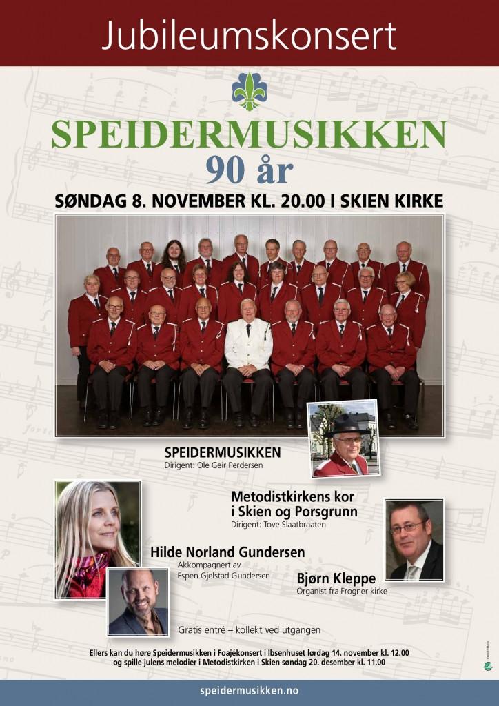 Plakat Jubileum Speidermusikken