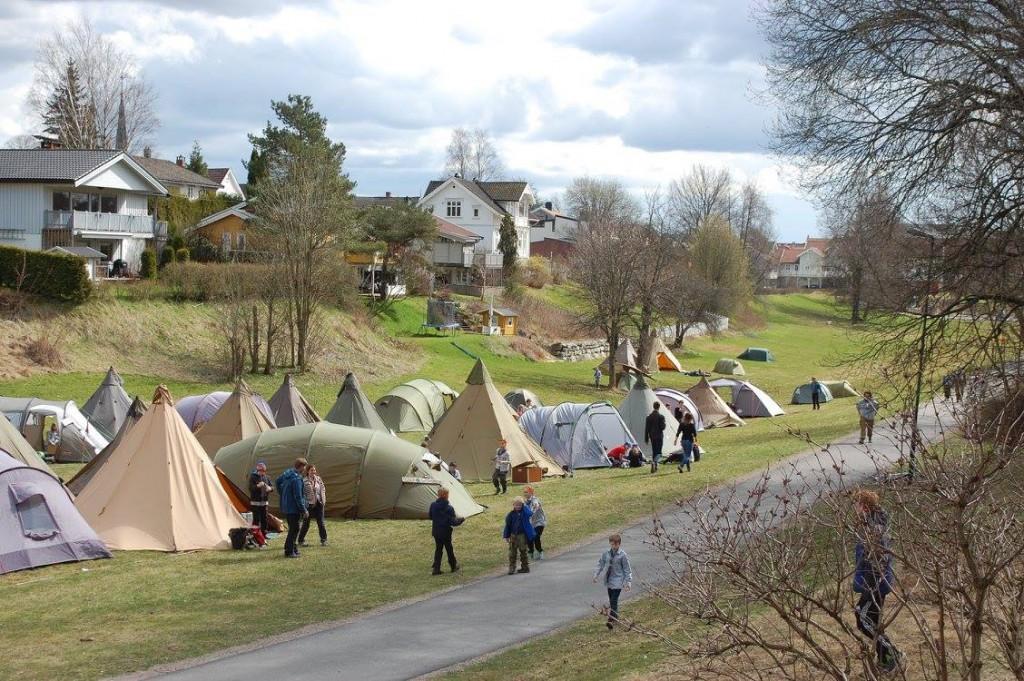 Teltleir i Lundedalen. Foto: Hanne Birte Hulløen (Facebook)