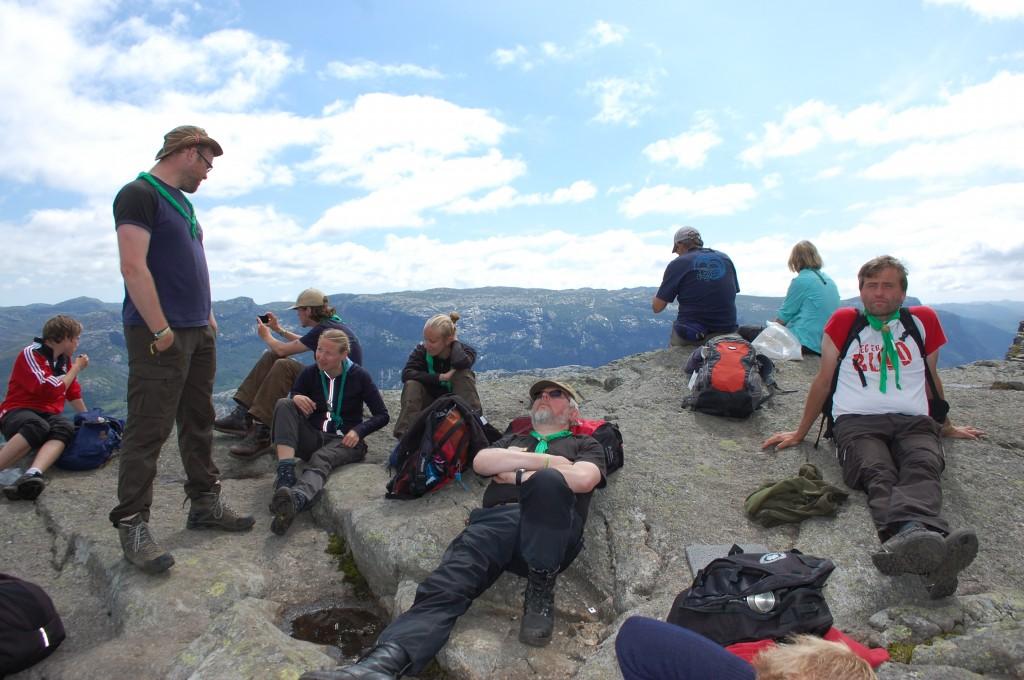Stavanger 2013: Speiderledere kan slappe av hvor som helst.
