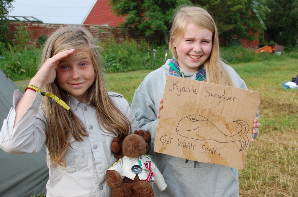 Stavanger 2013: Mari og Maiwenn er endelig ute av sykestua.For: Hanne Birte Hulløen