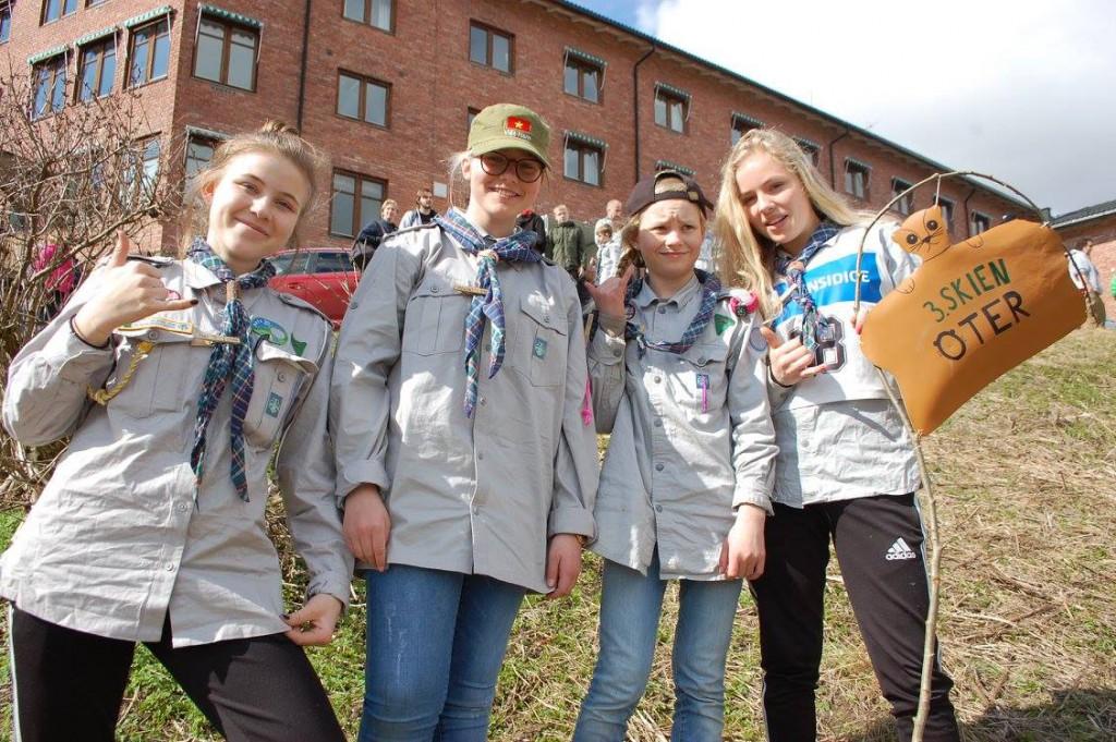 Oter med rykende ferskt patruljebanner debuterte i Kretsbanneren med sjuende plass. Foto: Hanne Birte Hulløen (Facebook)